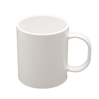 41000 11oz Polymer mug features a high gloss white finish and is unbreakable and scratch resistant.