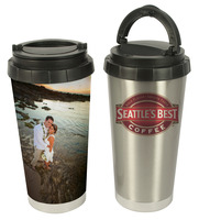 16 oz. Sublimation Stainless Steel Thermos - Silver or White