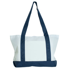 PhotoMugs.com - Panel Tote Bag, Navy Blue and White